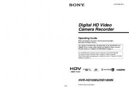 HVRHD1000U Digital HD Video Camera Recorder