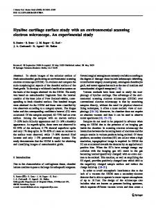 Hyaline cartilage surface study with an environmental ... - Springer Link