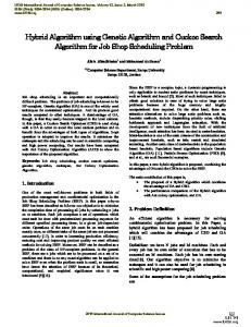 Hybrid Algorithm using Genetic Algorithm and ... - Semantic Scholar
