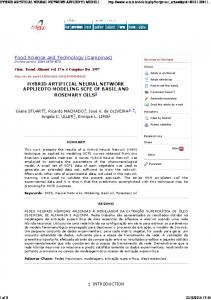 hybrid artificial neural network appliedto modeling scfe of basil and ...