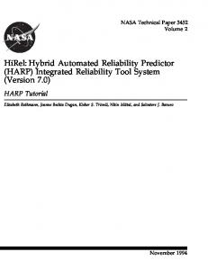 Hybrid Automated Reliability Predictor (HARP)