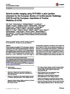 Hybrid cardiac imaging using PET/MRI - Springer Link