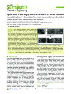 Hybrid Clay: A New Highly Efficient Adsorbent for ... - ACS Publications