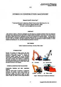 HYBRID IN CONSTRUCTION MACHINERY
