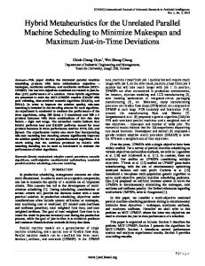 Hybrid Metaheuristics for the Unrelated Parallel Machine Scheduling