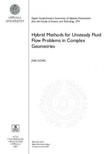 Hybrid Methods for Unsteady Fluid Flow Problems in Complex ... - DiVA