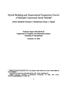 Hybrid Modeling and Experimental Cooperative Control of Multiple ...