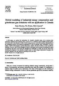 Hybrid modeling of industrial energy consumption and greenhouse ...