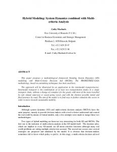 Hybrid Modeling: System Dynamics combined with