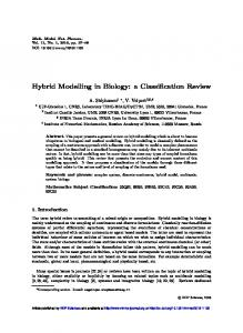 Hybrid Modelling in Biology: a Classification Review - Mathematical ...