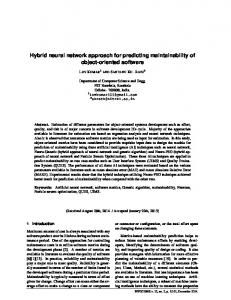 Hybrid neural network approach for predicting ...
