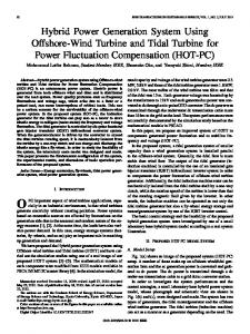Hybrid Power Generation System Using Offshore-Wind ... - IEEE Xplore