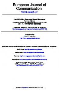 Hybrid Public Relations News Discourse