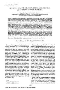HYBRIDIZATION AND CHLOROPLAST DNA ... - Wiley Online Library