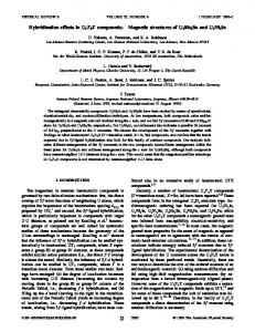Hybridization effects in U2T2X compounds ... - APS Link Manager