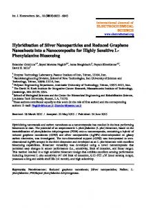 Hybridization of Silver Nanoparticles and Reduced Graphene ...