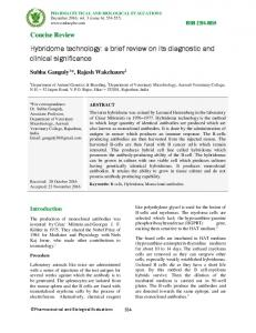 Hybridoma technology - Pharmaceutical and Biological Evaluations