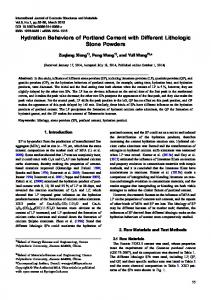 Hydration Behaviors of Portland Cement with Different ... - Springer Link