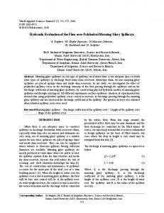Hydraulic Evaluation of the Flow over Polyhedral Morning Glory