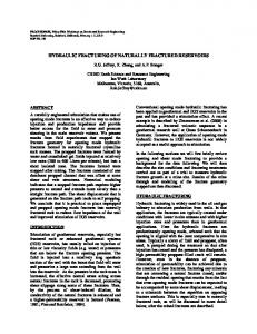 Hydraulic Fracturing of Naturally Fractured Reservoirs