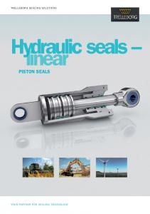 Hydraulic Seals - linear - Piston Seals (metric version)