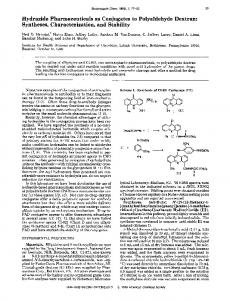 Hydrazide pharmaceuticals as conjugates to ... - ACS Publications