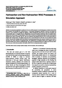 Hydrocarbon and Non-Hydrocarbon WAG Processes ...