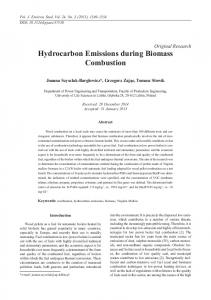 Hydrocarbon Emissions during Biomass Combustion