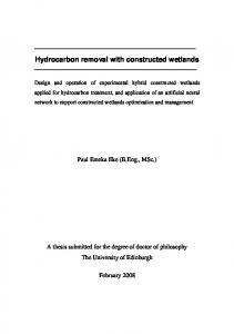 Hydrocarbon removal with constructed wetlands - Core