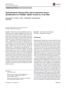 Hydrochemical Characteristics and Groundwater ... - Springer Link