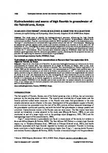 Hydrochemistry and source of high fluoride in groundwater of the