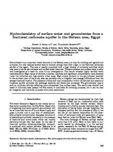 Hydrochemistry of surface water and groundwater from a fractured ...