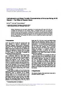 Hydrodynamic and Mass Transfer Characteristics of Annulus-Rising ...