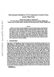 Hydrodynamic Simulation of Two Component Advective Flows around ...