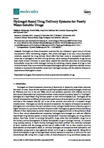 Hydrogel-Based Drug Delivery Systems for Poorly Water-Soluble - MDPI