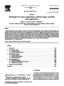 Hydrogels for tissue engineering: scaffold design ...