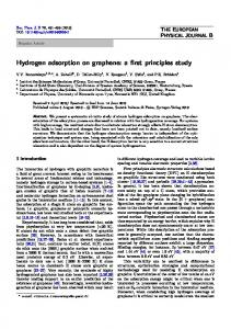 Hydrogen adsorption on graphene - Springer Link