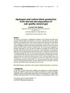 Hydrogen and Carbon Black Production from Thermal