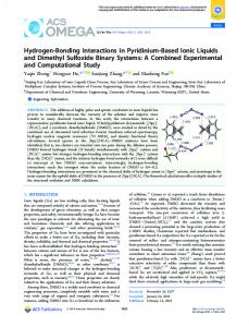 Hydrogen-Bonding Interactions in Pyridinium ... - ACS Publications