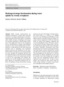 Hydrogen isotope fractionation during water uptake by woody ...