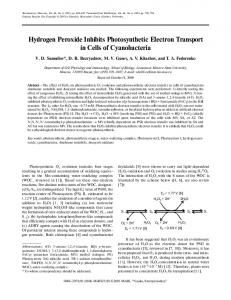 Hydrogen Peroxide Inhibits Photosynthetic Electron ... - Springer Link