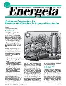 Hydrogen Production by Biomass Gasification in Supercritical Water