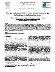 Hydrogen production by catalytic decomposition of ... - Science Direct