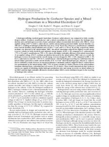 Hydrogen Production by Geobacter Species and a Mixed ... - CiteSeerX
