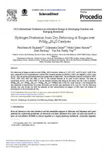 Hydrogen Production from Dry-Reforming of Biogas over Pt ... - Core