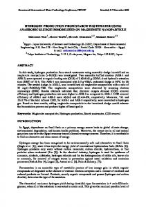 hydrogen production from starch wastewater using anaerobic ... - IWTC