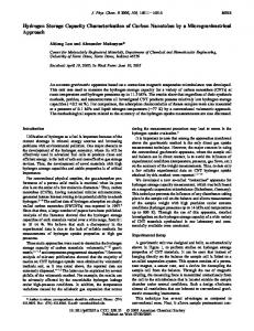 Hydrogen Storage Capacity Characterization of ... - ACS Publications