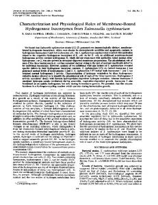 Hydrogenase Isoenzymes from Salmonella typhimurium - Journal of