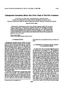 Hydrogenated Amorphous Silicon Gate Driver Made ...
