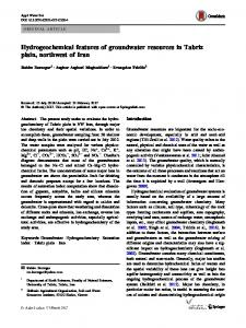 Hydrogeochemical features of groundwater resources in Tabriz ... - Core